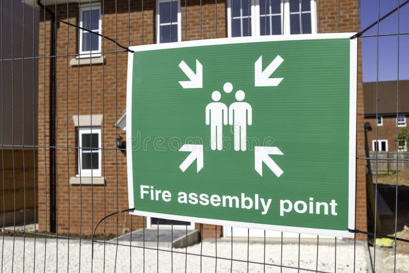 Meddelanden om hälsa och säkerhet på byggarbetsplatsen royaltyfria bilder