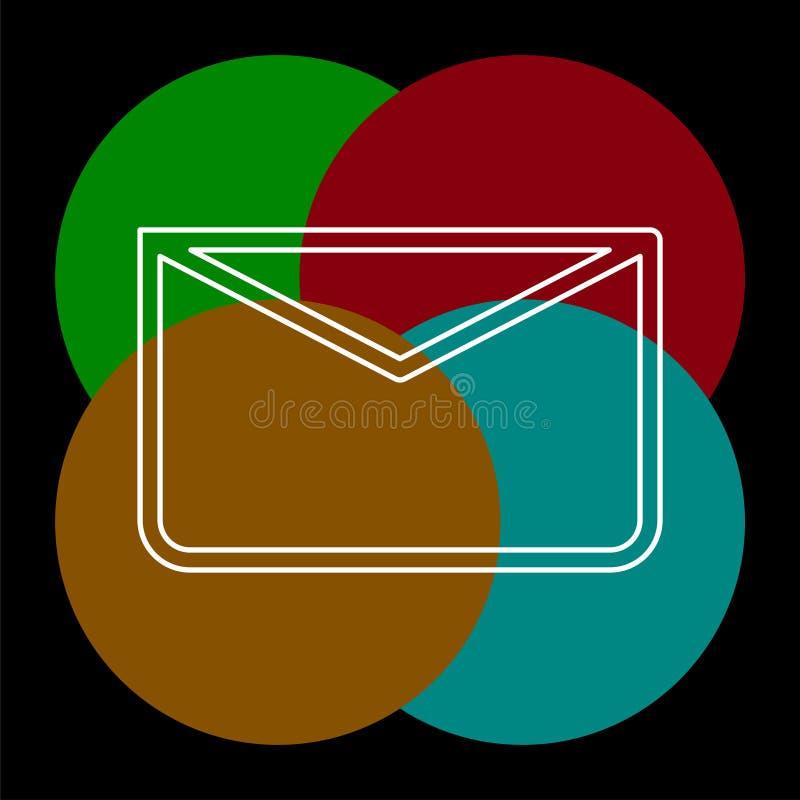 Meddelandesymbol, kuvertillustration - vektorpost stock illustrationer