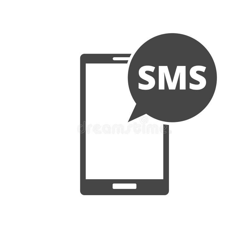 Meddelandesymbol med smsanförandebubblan stock illustrationer