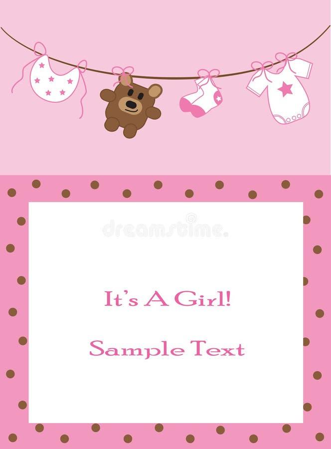 meddelandet behandla som ett barn flickan royaltyfri illustrationer