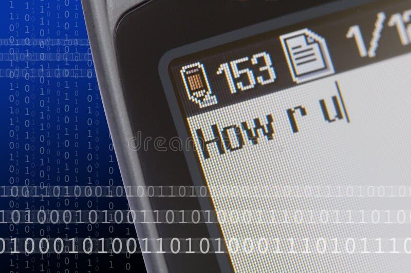 meddelandetelefontext arkivfoto