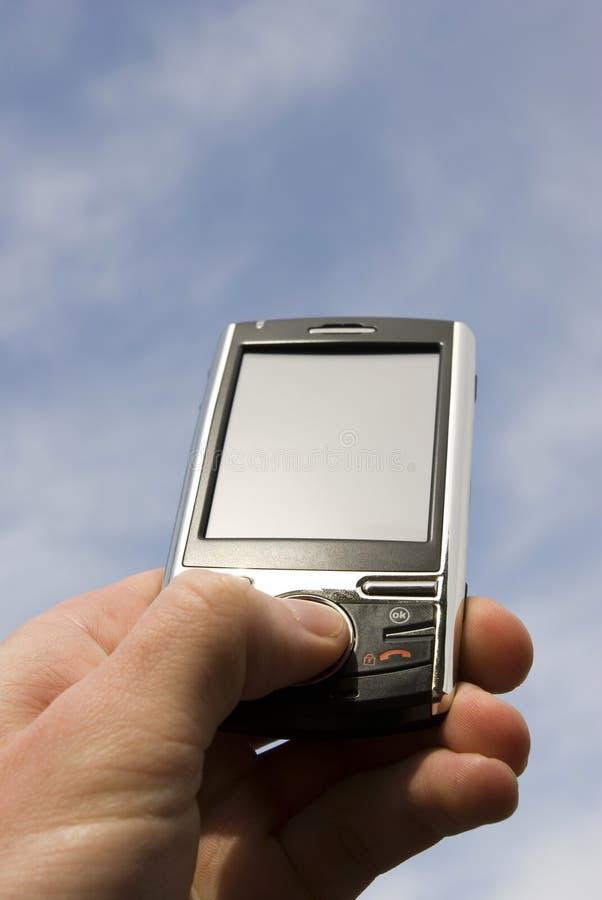 meddelarehänder arkivfoton