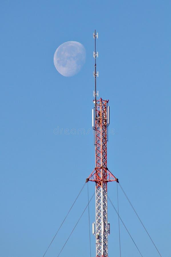 Mededeling aan de maan stock fotografie