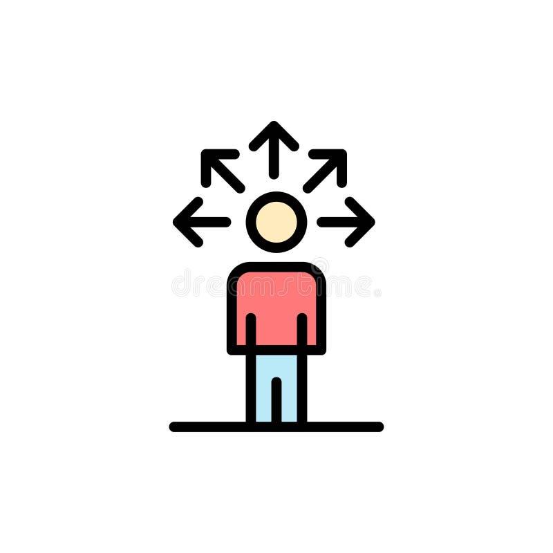 Mededeling, Capaciteiten, Verbinding, Menselijk Vlak Kleurenpictogram Het vectormalplaatje van de pictogrambanner stock illustratie