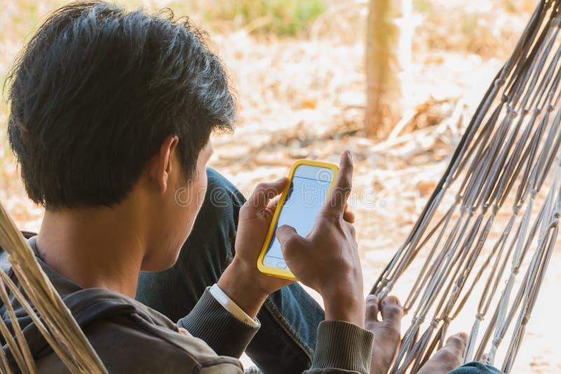 mededeling door mobiel stock fotografie