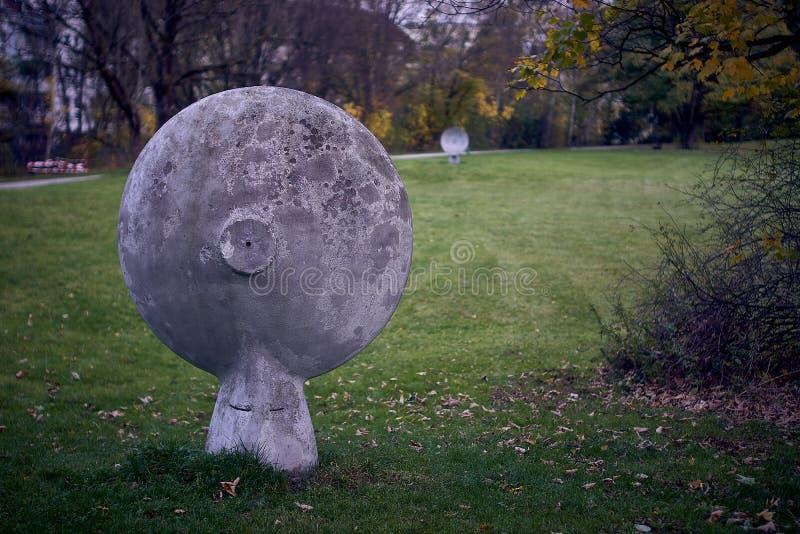 mededeling in een park in München royalty-vrije stock afbeelding