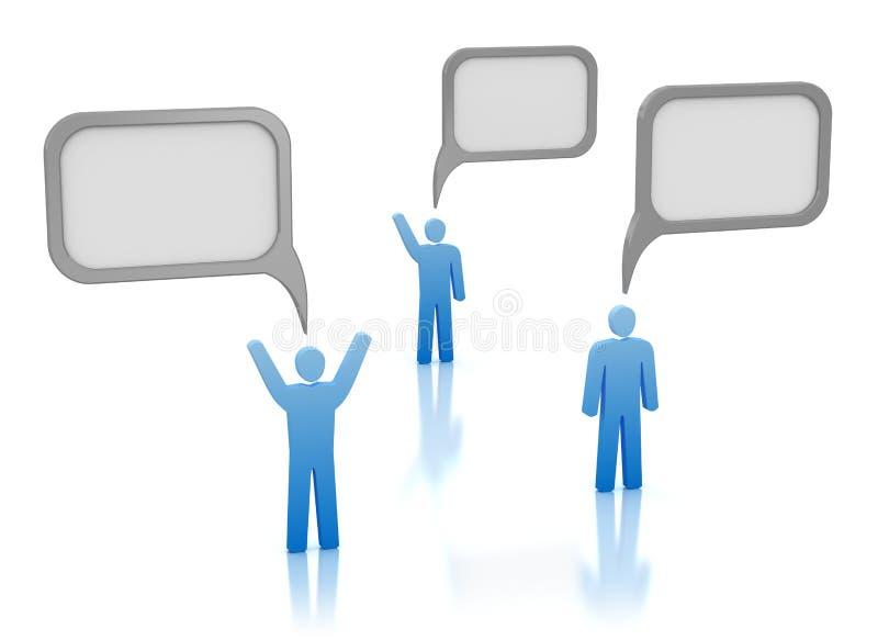 Mededeling - mensen met bellen vector illustratie