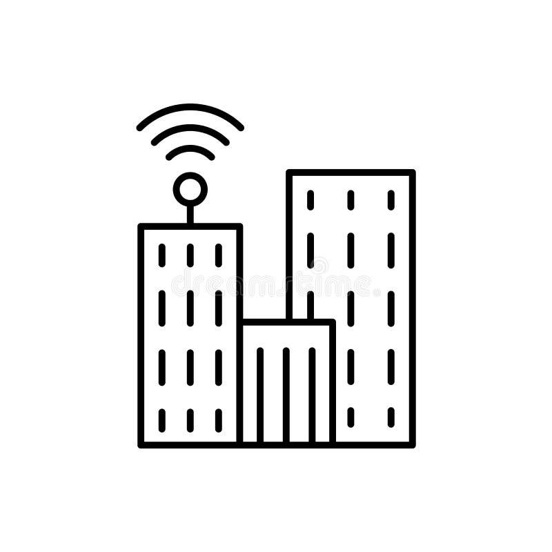 Mededeling, televisie, de bouwpictogram - Vector Kunstmatige intelligentie royalty-vrije illustratie