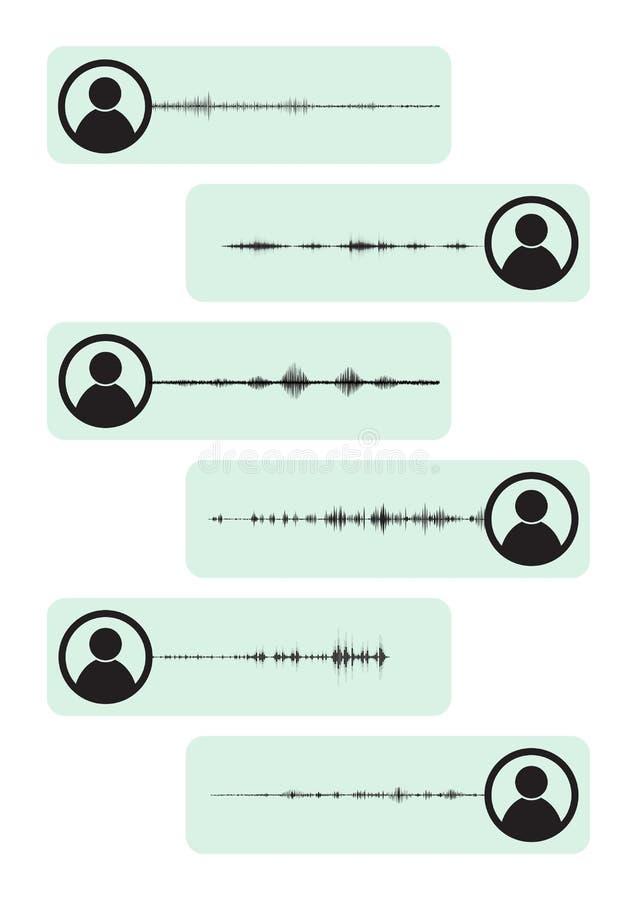 Mededeling van audioformaten vector illustratie