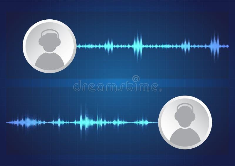 Mededeling van audioformaten stock illustratie