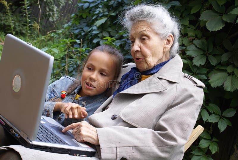 Mededeling van generaties stock afbeelding