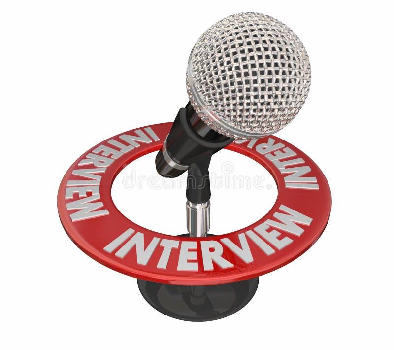 Mededeling van Podcast van de gespreksmicrofoon de Radio stock illustratie