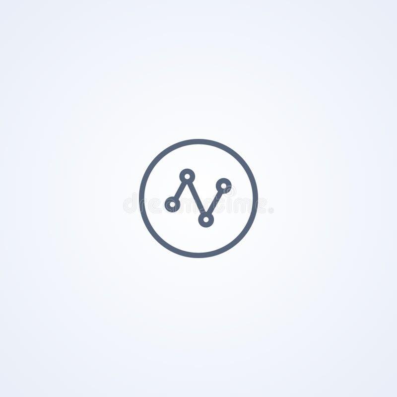 Mededeling, verbinding, vector beste grijs lijnpictogram royalty-vrije illustratie