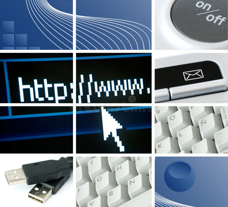 Mededelingen en technologie royalty-vrije illustratie