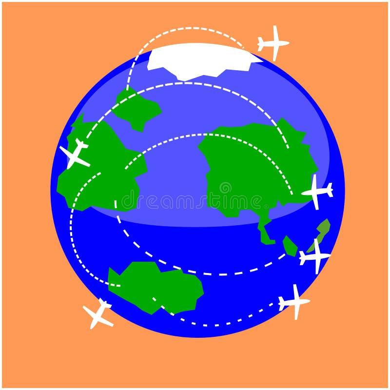 Mededelingen en Vervoer royalty-vrije illustratie