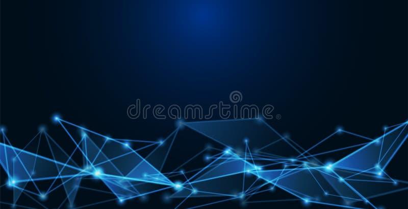 Mededelingen of technologie, wetenschapsachtergrond vector illustratie