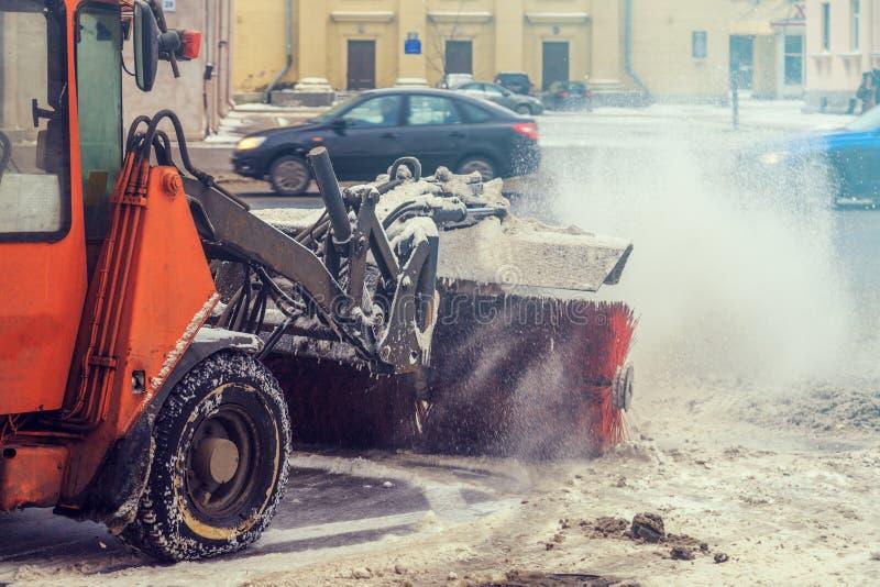 Medel för snöborttagning arkivbilder