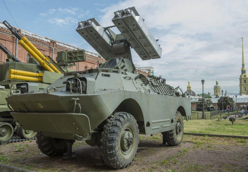 medel 9P31-fighting med luftvärns- miss för fyra missiler 9M31 royaltyfri fotografi