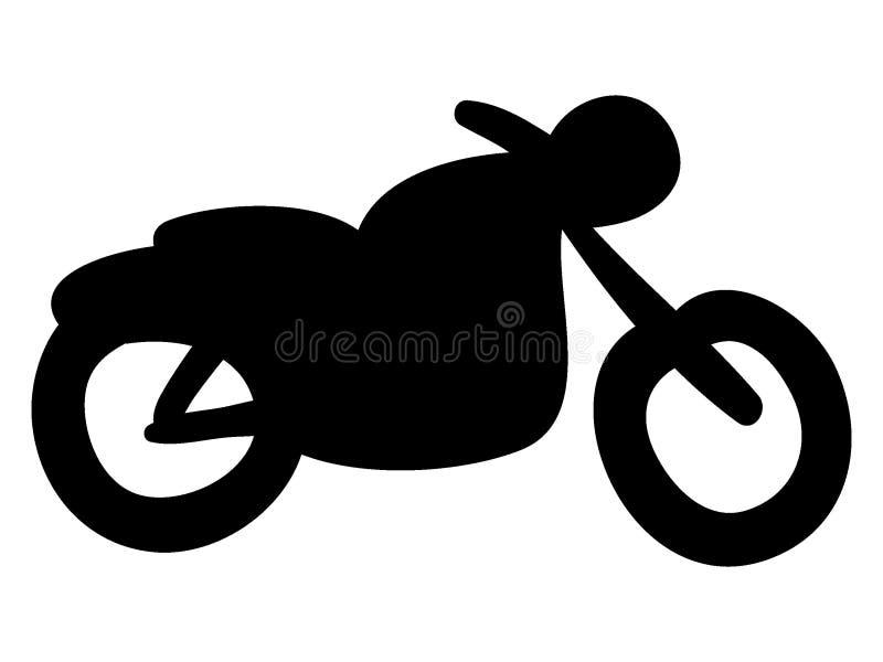 Medelbild av en motorcykel vektor illustrationer