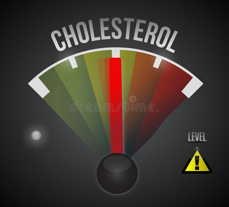 medeldesign för illustration för kolesterolnivå royaltyfri illustrationer