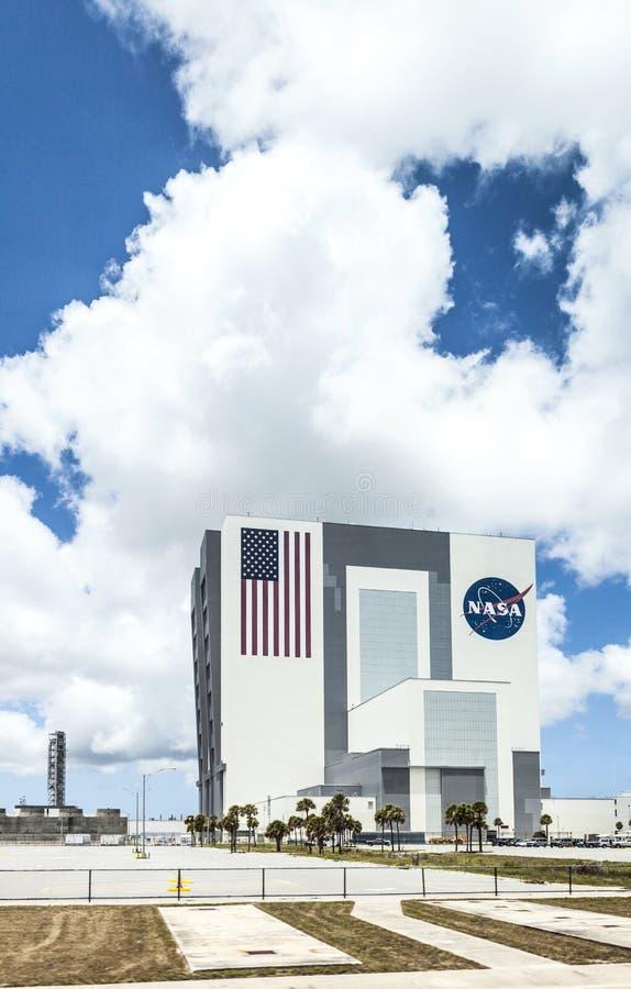 Medelenhetsbyggnaden på NASA, Kennedy Space arkivfoton