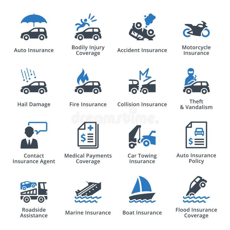 Medelförsäkring - blå serie vektor illustrationer