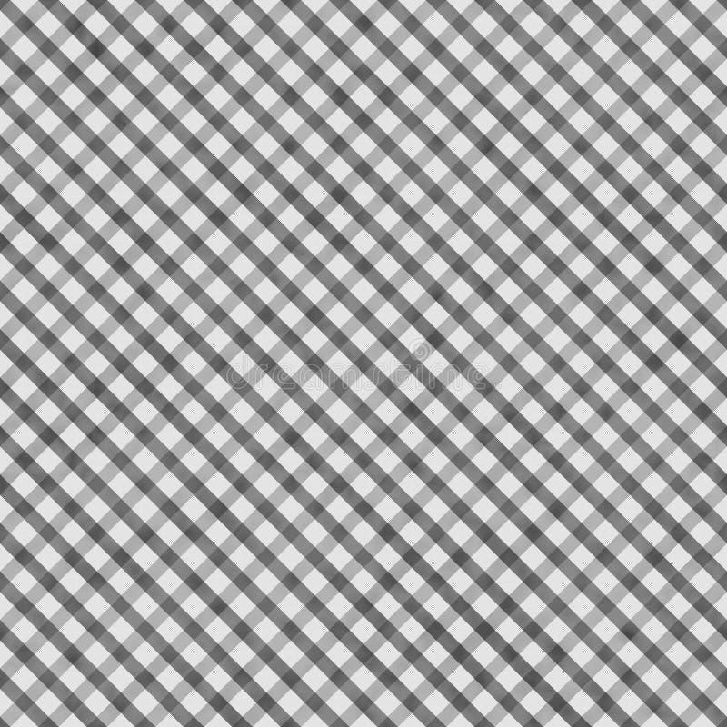 MedelGray Gingham Pattern Repeat Background arkivfoto