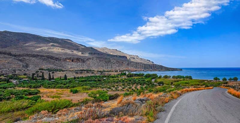 Medelhavkust av Kreta fotografering för bildbyråer