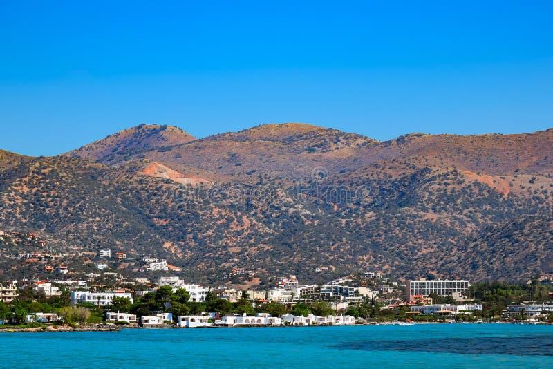 Medelhavkust av Kreta royaltyfria bilder