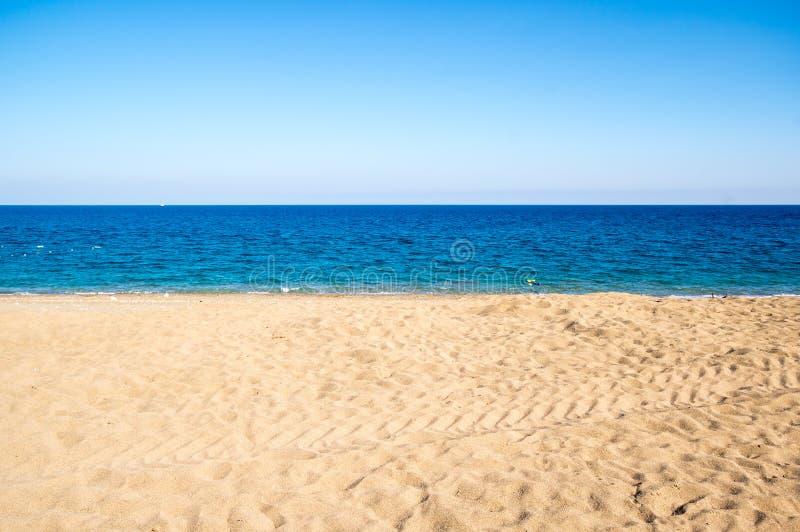 medelhavs- hav f?r kust arkivfoto