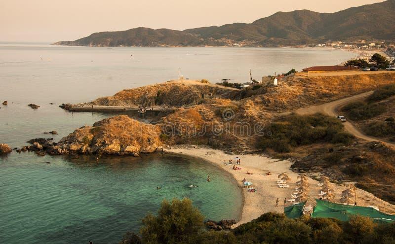 Medelhavs- kust- royaltyfri fotografi