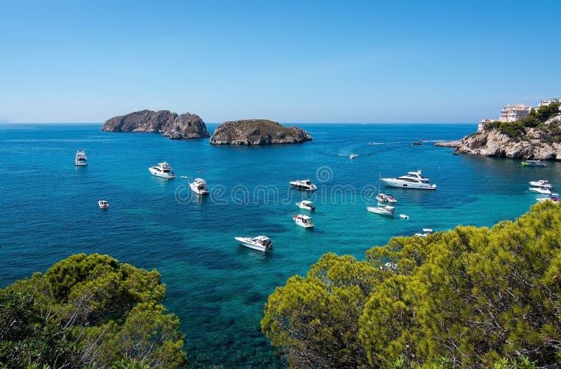 Medelhavs- seascape för Mallorca sommar royaltyfria foton