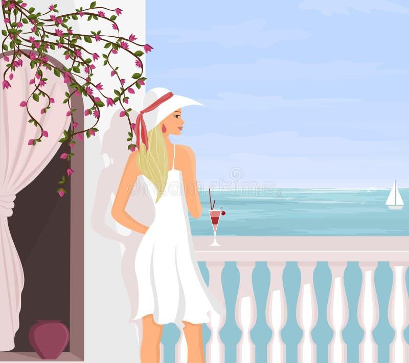 medelhavs- semester royaltyfri illustrationer