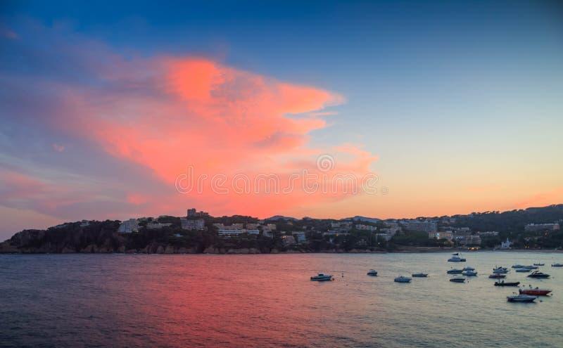 medelhavs- viareggio för kust fotografering för bildbyråer