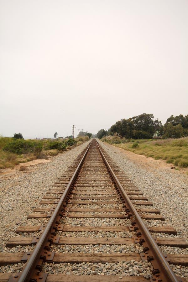 medeljärnvägspår arkivbilder