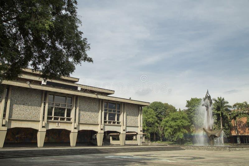 Medellin, Antioquia/Колумбия - 13-ое июля 2017 Университет Antioquia Главным образом учебное заведение Antioquia и одного стоковая фотография