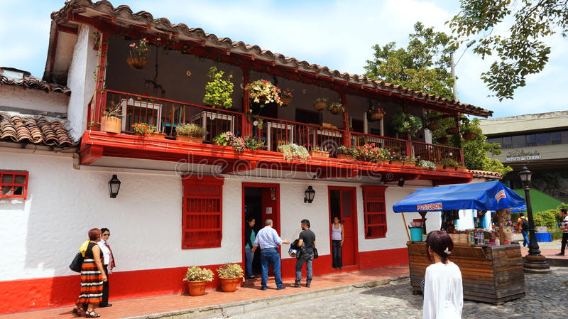 Medellin, Antioquia/Colombia - November 10 2015: Activiteit in Pueblito Paisa royalty-vrije stock afbeelding