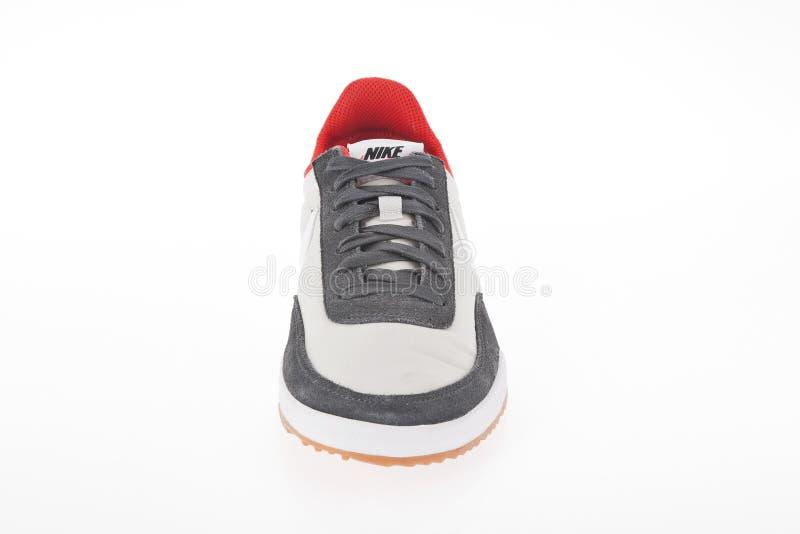 Medellin, Colômbia abril 06, 2019: Sapatas dos esportes de Nike foto de stock royalty free
