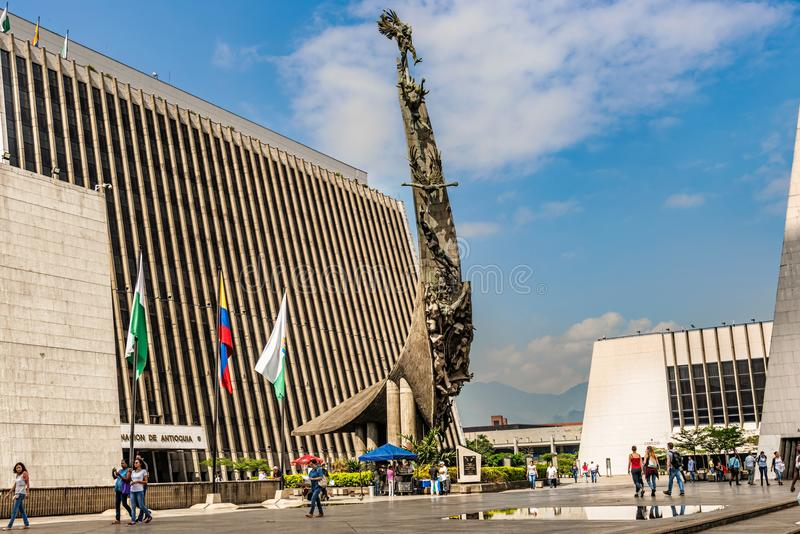 Monumento al Pueblo Antioqueno Monument to the People of Antioquia), Sculpture by Rodrigo Arenas Betancourt, Monument to La. Medellin, Colombia – March 26 stock images