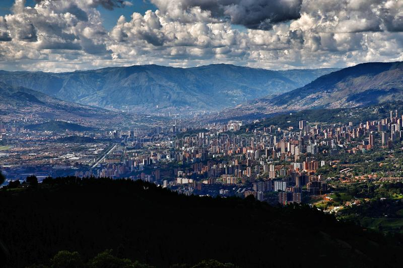 Medellin Colombia city scape royalty free stock images