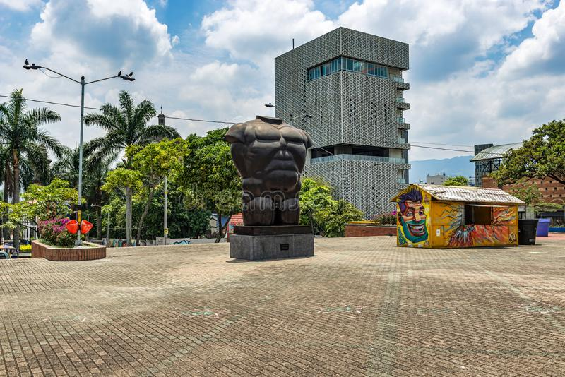 Botero sculptures located in Medellin, Colombia. Medellin, Colombia, March 24, 2018: Botero sculpture located in Medellin, at San Antonio Park in Colombia royalty free stock image