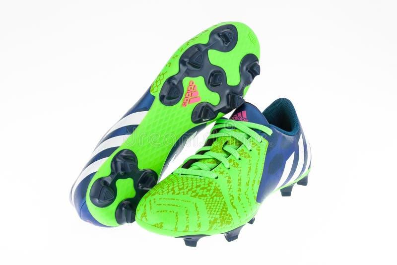 Zapatos Del Fútbol De Adidas Foto de archivo editorial
