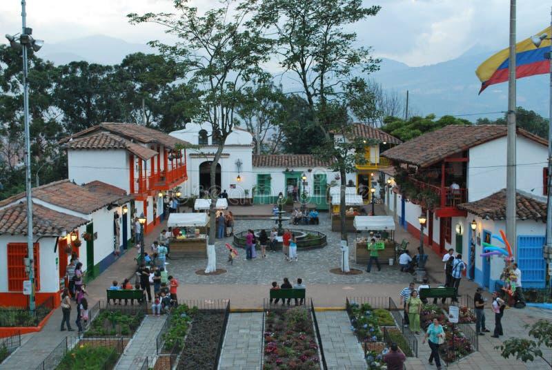 Medellin Colombia Pueblito Paisa - replica fotografia stock libera da diritti