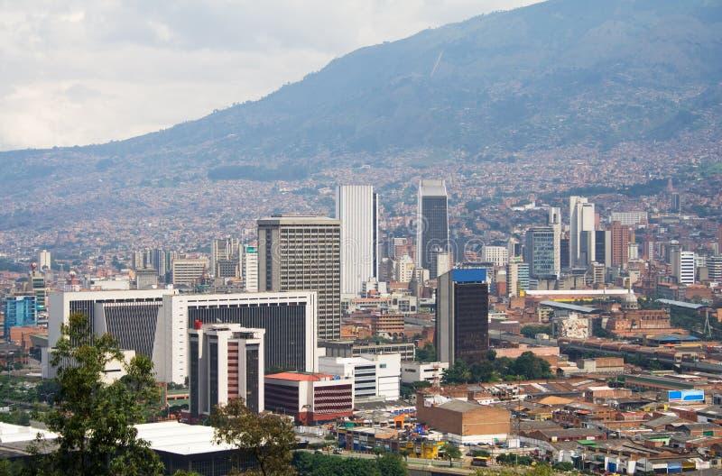 Medellin de stad in royalty-vrije stock afbeeldingen