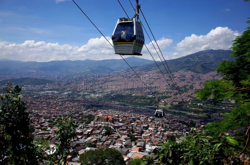 Medellin-Drahtseilbahn stockbilder