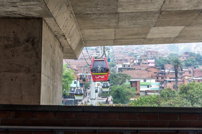 Medellinmetro Kabel royalty-vrije stock foto