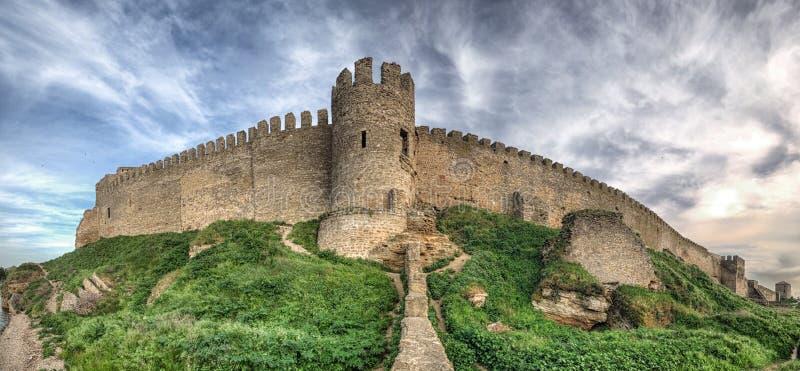 Medeltida Akkerman fästning nära Odessa i Ukraina royaltyfri foto