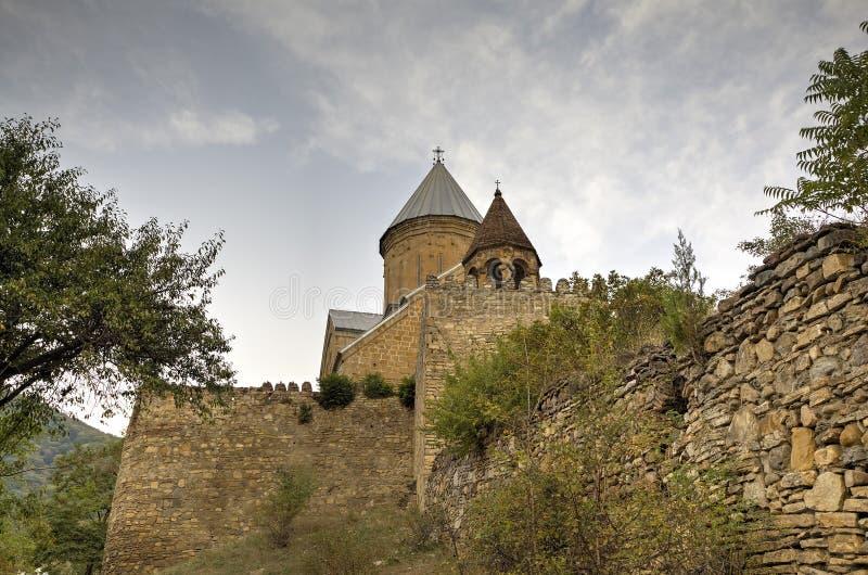 Medeltida Ananuri slott arkivbild