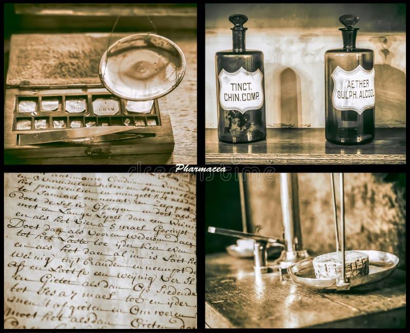 Medeltida apotek royaltyfri bild
