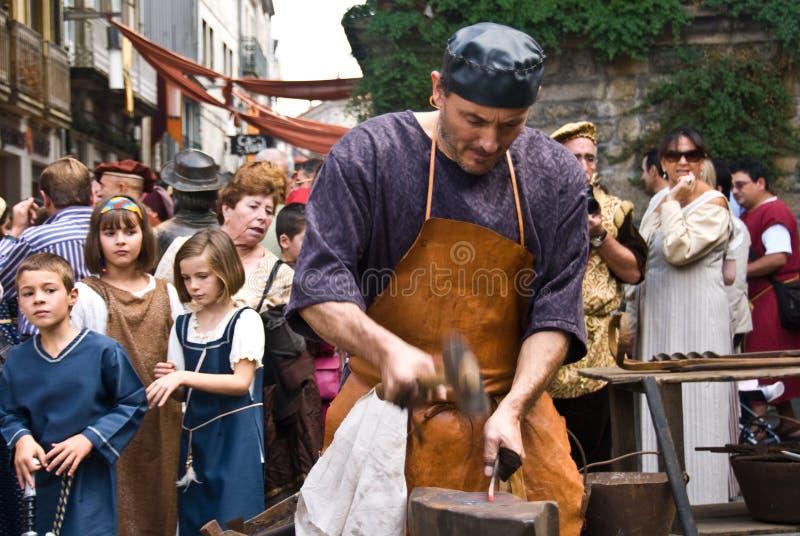medeltida arbete fotografering för bildbyråer